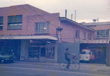 Old photo of Glenroy Bakery
