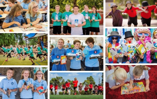 Various Images of Students Gathered for a Fundraiser