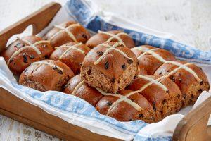 Freshly Made Hot Cross Buns At Glenroy Bakery