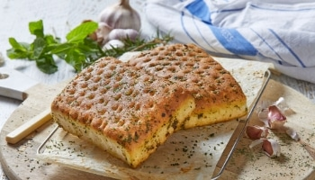 Freshly baked Focaccia at Glenroy Bakery