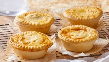 Freshly baked pies at Glenroy Bakery